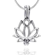 Locket Design For Girl In Silver Lgsy 925 Sterling Silver Lotus Pearl Cage Pendants For Pearl Jewelry Making Design Pearl Cage Pendants For Women Girls Essential Oil Difuser Lockets