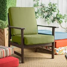 Green Cushion Patio Chairs With Brown Hand Grip And Brown Table Legs