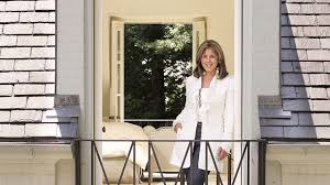 interior decorator suzanne kasler on a balcony at her atlanta residence which was renovated by architectural