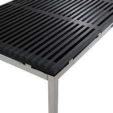 Slatted Coffee Table Coffee Table Recycled Rom In Black Thos Baker