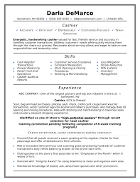 Customer Service Experience Examples For Resume Cashier Resume Sample Monster 30