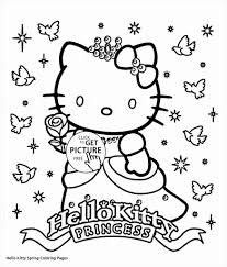 Hello Kitty Frog Coloring Pages Printable Coloring Page For Kids
