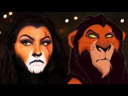 scar the lion king makeup tutorial