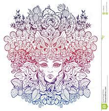 Celtic Fairy Green Elf Illustration Stock Vector Illustration Of