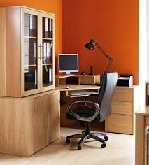 colored corner desk armoire. Computer Armoire Desk Scheme Orange Wall Style Escorted By Leather Swivel Chair Home Office Colored Corner R