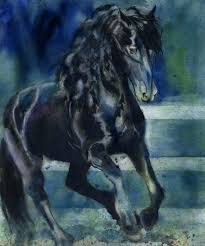 image 0 horse paintings on canvas colorful black art print from