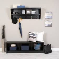 Floating Entryway Shelf Coat Rack Floating Entryway Shelf and Coat Rack Coat racks Smart furniture 25