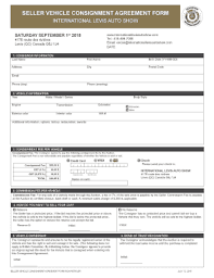 consignment form for cars fillable online seller vehicle consignment agreement form fax email