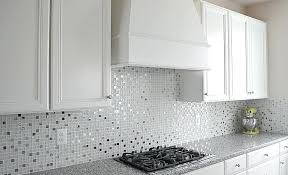 allen and roth tile inspiration lake and home white kitchen cabinet glass metal tile