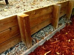 wooden garden retaining wall build wood retaining wall driveway
