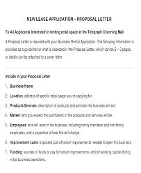 Lease Proposal Letter Amazing Business Rental Proposal Template Lease Form Skincenseco