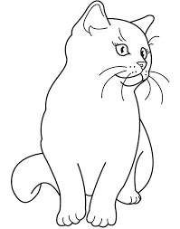 cats for coloring.  Coloring Printable 29 Realistic Cat Coloring Pages 4753   For Cats