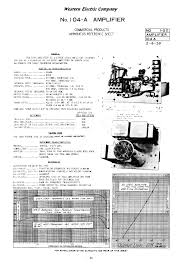 western electric 104 a audio preamplifier 1939 sm service manual western electric 104 a audio preamplifier 1939 sm service manual 1st page