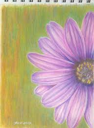 painting flowers with colored easy colored pencil drawings flowers