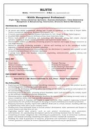 Sample Middle Management Resume Sales Engineer Sample Resumes Download Resume Format Templates 6