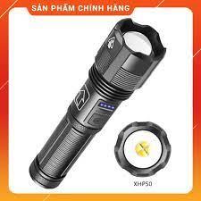 Đèn Pin Siêu Sáng Cao Cấp XHP 50 Hợp Kim Chống Nước Pin Có Thể Sạc Lại Led  Pin (Loại Tốt) tại Hà Nội