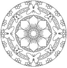Coloriage De Mandala Fleur De Vie Pour Colorierlllll