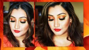 fall makeup 2016 sunset orange eyes makeup tutorial glammegal