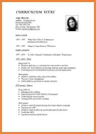 How To Writesume For Teaching Job Curriculum Vitae In India Write