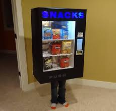 How To Make A Candy Vending Machine Out Of Cardboard Enchanting Vending Machine Costume Only Accepts Candy Technabob