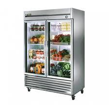 glass door reach in refrigerator 49 cu ft