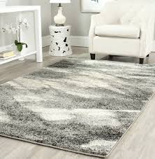 gray area rug for your neutral interior flooring idea modern living room with white leather