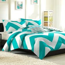 turquoise chevron quilt cover modern reversible blue grey aqua teal chevron stripe sport soft comforter set