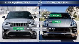 2018 land rover price. modren land price range rover velar vs porsche macan in 2018 land rover price