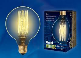<b>Лампа UNIEL</b> (UL-00000479) <b>E27 60W</b> шар золотистый <b>IL</b>-<b>V</b>-<b>G95</b> ...