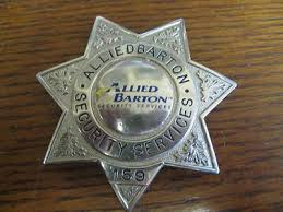 Allied Barton Security Services Badge 159 290842130