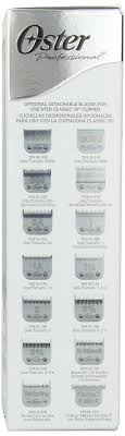 24 Reasonable Oster 76 Blade Sizes Chart