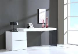 officeworks office desks.  Office Contemporary Two Drawer White High Gloss Office Desk With Glass Leg  Desks Stylish Accessories In Officeworks Office Desks