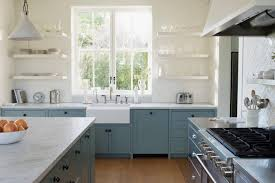a kitchen in mill valley by architect ken linsteadt with lower cabinets painted in farrow
