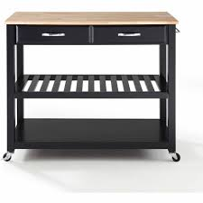 Crosley Furniture Kitchen Cart Crosley Furniture Natural Wood Top Kitchen Cart With Optional