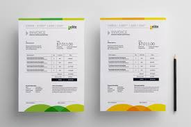 ms invoice ms word clean invoice corporate identity template clothing