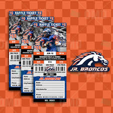 sports invites halftime football raffle ticket style template raffle ticket design 4 jr broncos proof product 1