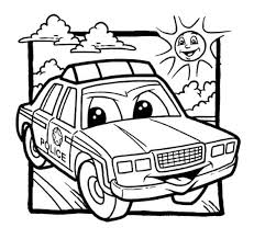 Police Car Coloring Pages For Kids Enjoy Coloring Car Coloring
