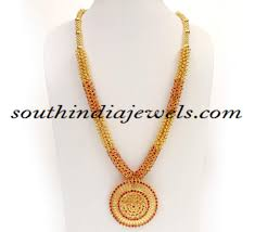 Latest Gold Haram Designs In 40 Grams Kerala Jewellers Gold Haram Design With Price South India