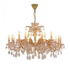 chandelier ceiling lamp with swarovski spectra crystal cesaria lighting gold transpa
