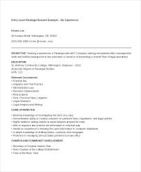 Paralegal Resume Template Magnificent 28 Paralegal Resume Templates PDF DOC Free Premium Templates