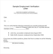 Employment Verification Letter Immigration Sample Professional