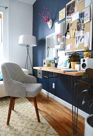 home office dark blue gallery wall. Modern Home Office Features With French  Oak Picture Home Office Dark Blue Gallery Wall E