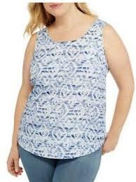 Faded Glory Womens Woven White Tank Top Sleeveless Shirt