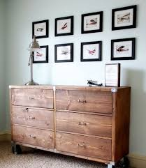 diy modern ikea tarva hack. Rustic Tarva Hack Stained Dark And On Casters Diy Modern Ikea A