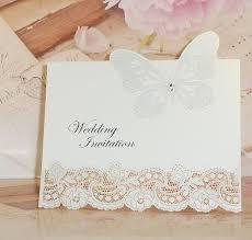 laser cut 3d diamante erfly diy pearlescent vintage wedding card for invitations uk