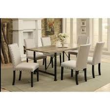 acme furniture old lake 7 piece rectangular dining table set formaldiningrooms dining room table