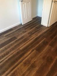 drak brown luxury vinyl plank floor