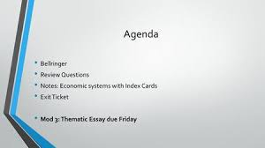 economic systems and theorists ppt video online agenda bellringer review questions notes economic systems index cards exit ticket mod 3
