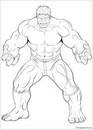 Prepare lots of green markers! Avengers The Hulk Coloring Pages Cartoons Coloring Pages Free Printable Coloring Pages Online