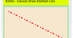 Tween a line color in tweenjs canvas. Android Kotlin Canvas Draw Dashed Line